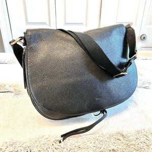 Vince Camuto Black Convertible Leather  Flap Bag